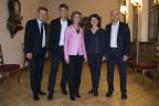 Der neugewählte Berner Gemeinderat leitet die Geschäfte vorerst gemeinsam.