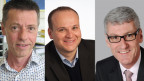 Die Kandidaten von FDP (Mitte) und CVP (rechts) wollen Erich Zoller (CVP, links) beerben.