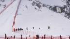 Skifahrer im Nebel