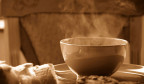 Dampfende Suppe.