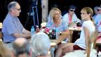Francine Jordi, Guy Parmelin und Sonja Hasler im Gespräch.