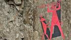 Teufelsdenkmal über der Teufelsbrücke