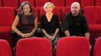 Gastgeberin Anita Richner mit den Gästen Marcus Messmer und Katharina Lehmann.