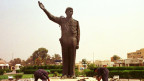 Statue des ehemaligen Irakischen Diktators Saddam Hussein.