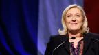 Marine Le Pen an einer Rede während der Regionalwahlen, Dezember 2015.