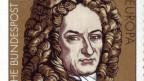 Leibniz als Sujet für eine deutsche Briefmarke.