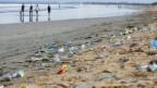 Plastik im Meer, Plastik am Meeresrand.