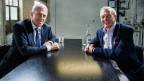Pierin Vincenz und Kurt Aeschbacher beim «Focus Blind Date»