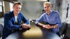 Ein Gespräch über Joghurt und andere kreativen Vorlieben: Michael Elsener und Ivo Adam.
