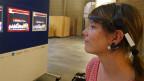 Mit der Kraft der Gedanken steuert Input-Redaktorin Sabine Meyer den Avatar auf dem Bildschirm.