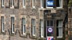 Zeichen des Brexit-Abstimmungskampfs in Edinburgh, Schottland.
