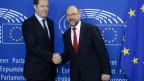 Im Moment hat er die EU völlig in der Hand: Der wallonische Ministerpräsident Paul Magnette (links).