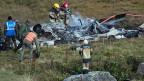 Systemische Mängel bei der Super-Puma-Flotte schliesst die Luftwaffe aus. Bild: Rettungskräfte bei der Unfallstelle.