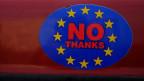 Aufschrift auf einem Auto in Wales zum Austritt Grossbritanniens aus der EU.