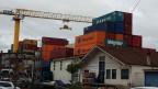 Auf dem Container-Depot der Firma Paul Leimgruber in Basel.