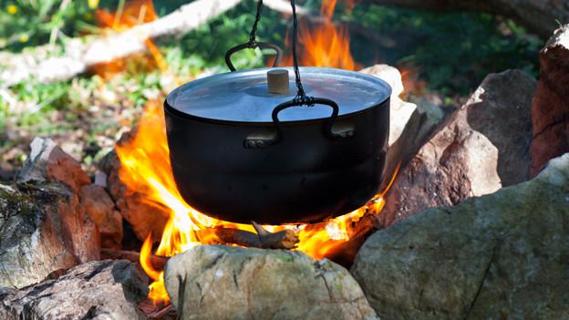 kochen und braten auf offenem feuer a point schweizer radio und fernsehen. Black Bedroom Furniture Sets. Home Design Ideas
