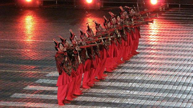 Internationale Militärmusikfestival «Spasskaya Tower» auf dem Roten Platz in Moskau.