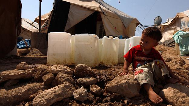 Ein syrisches Kind in einem Flüchtlingslager in der nordirakischen Provinz Dohuk (21. August 2013).