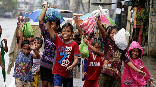 Mit der Spendenaktion unterstützten die Gamser Schüler die Kinder auf den Philippinen.
