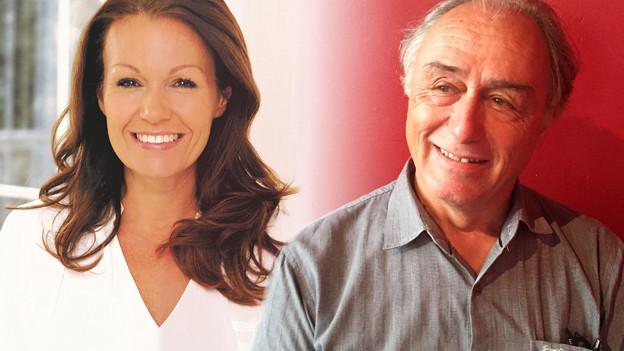 Porträtbilder der beiden Gäste (Bildmontage).