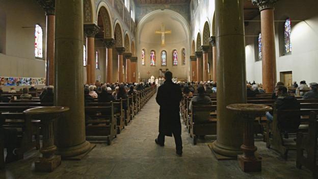 Gottesdienst in der Dreifaltigkeitskirche in Bern.
