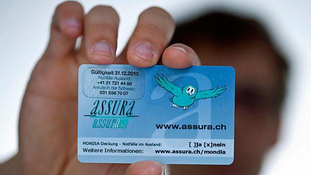 Eine Versicherungskarte der Krankenkasse Assura.