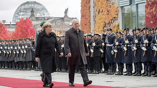 Berlin – roter Teppich für den Schweizer Bundespäsidenten