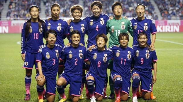 Japanische Fussballnationalmannschaft Der Frauen Aufstellung